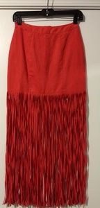 Red Tassel Skirt
